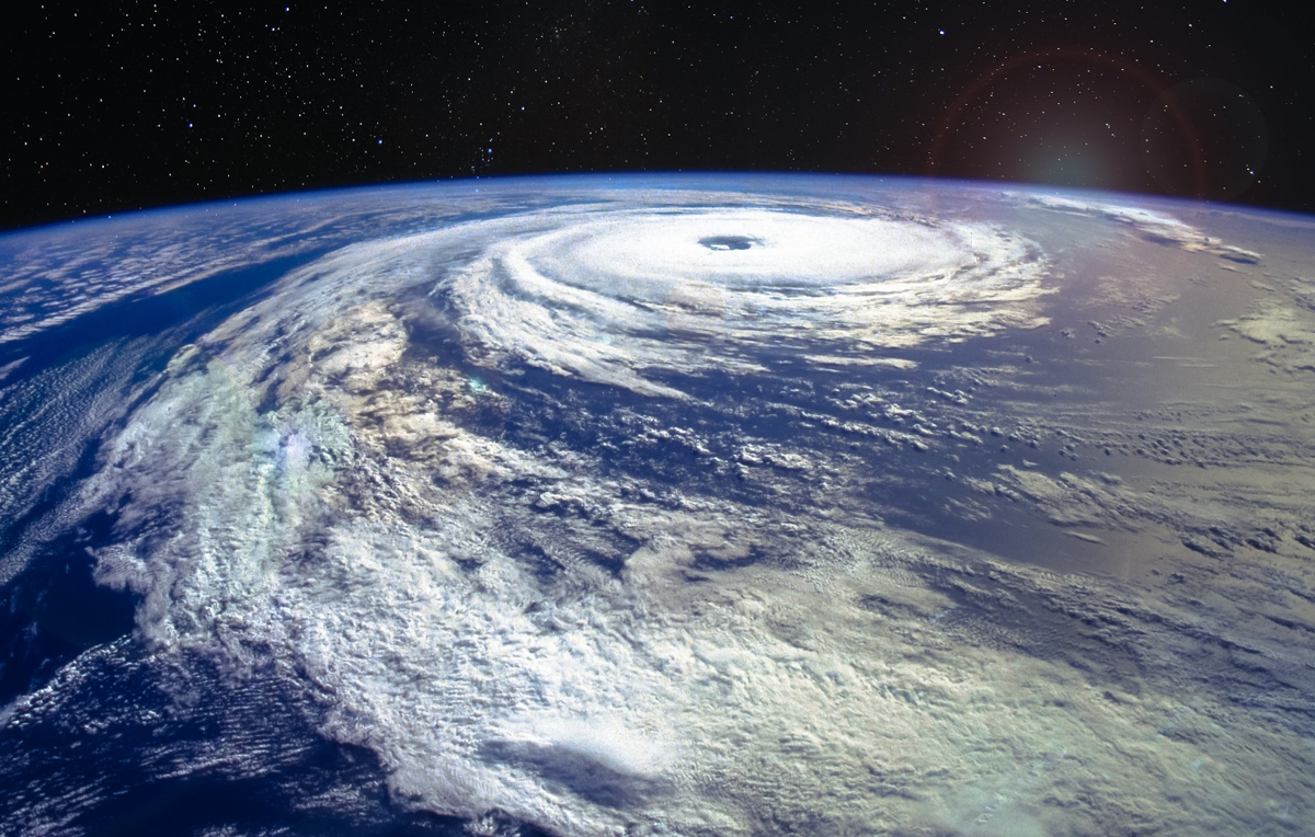 Hurricane Florence as seen above the Atlantic Ocean from the International Space Station. Florence made landfall along the Atlantic Coast on Sept. 14 and is the wettest tropical cyclone on record in the Carolinas. While weather forecasting has improved dramatically in the last century, it is expected to improve even more using artificial Intelligence and machine learning.